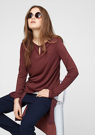 Double Layer-Shirt mit Knopf