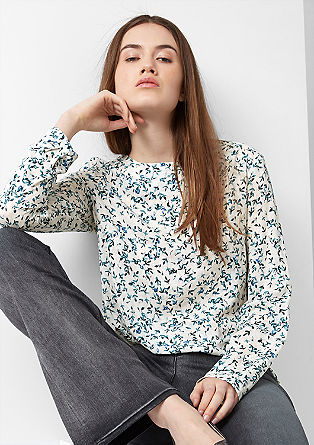 Floral viscose blouse from s.Oliver