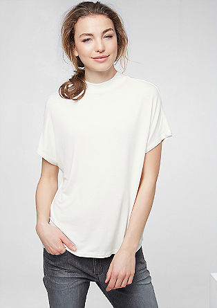 Oversized top with a stand-up collar from s.Oliver