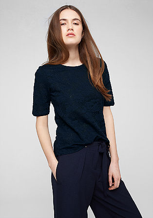 Lightweight jacquard top from s.Oliver