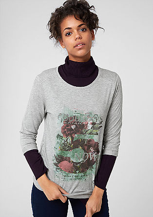 Print-Shirt mit 3/4-Arm