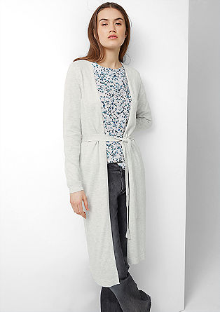 Long cardigan with tie belt from s.Oliver