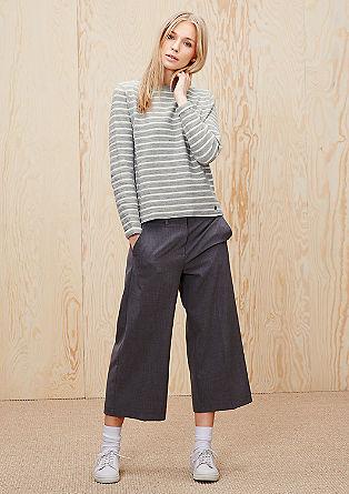 Gestreifter Inside-out-Sweater