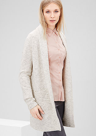Longcardigan aus Fancy-Garn