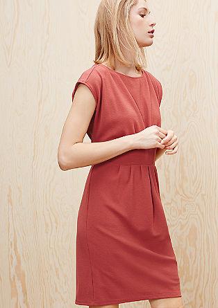 Jacquard-Kleid mit Drapierung