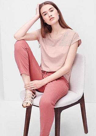 Leder-Look-Shirt