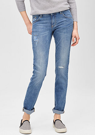 Shape Slim: distressed and repaired jeans from s.Oliver