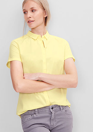 Stretch blouse with a button placket from s.Oliver