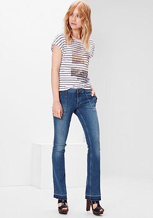 Shape Bootcut: Gewaschene Jeans