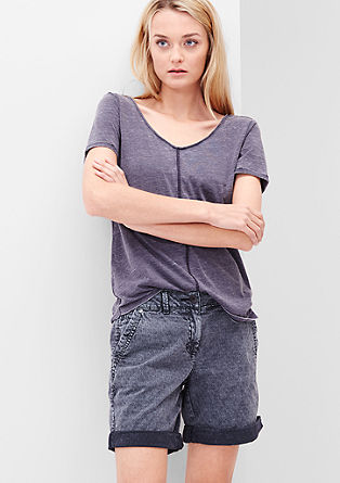 Smart Short: jacquard jeans from s.Oliver