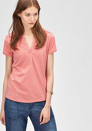 T-Shirt mit Tunika-Ausschnitt
