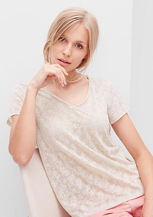Delicate burnt-out T-shirt from s.Oliver