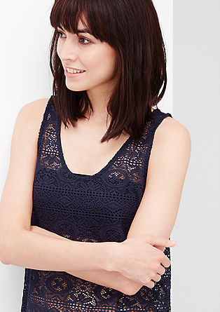 Crochet lace top from s.Oliver