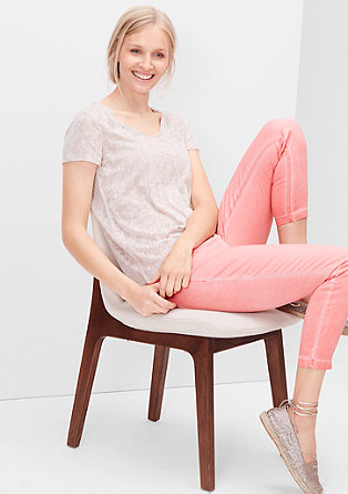 Shape Ankle: garment-dyed trousers from s.Oliver