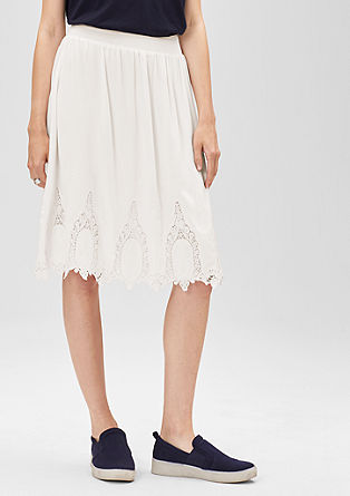 Skirt with lace and embroidery from s.Oliver
