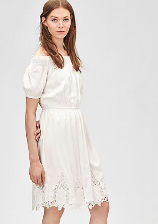 Bardot dress with lace from s.Oliver