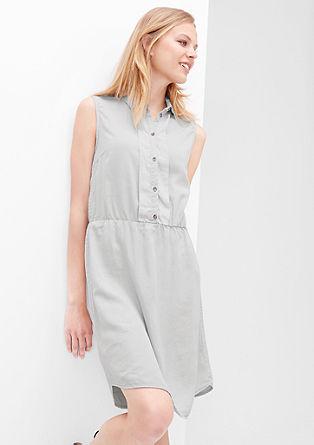 Samtiges Kleid mit Wascheffekt