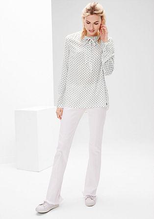 Bluza s trakcema in drobnim vzorcem