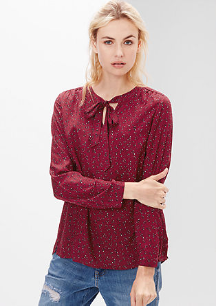 Pussy bow blouse with a minimal pattern from s.Oliver