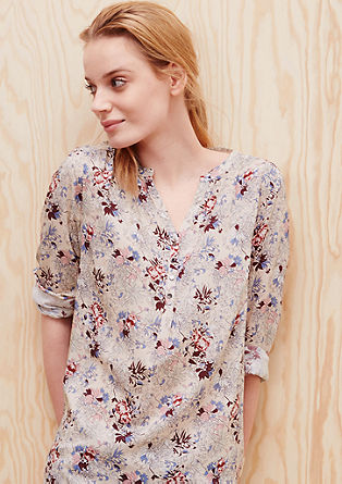 Tunic blouse with a floral print from s.Oliver