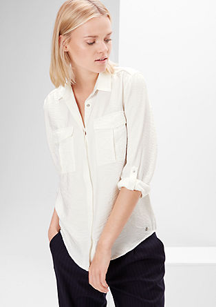 Shirt blouse with a crinkle effect from s.Oliver