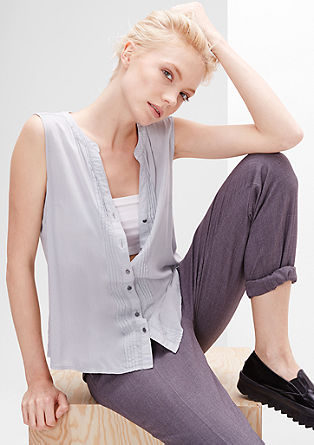 Blouse top with pintucks from s.Oliver