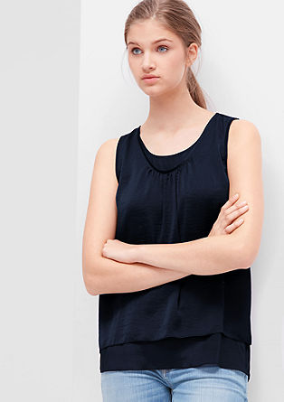 Layered satin blouse top from s.Oliver