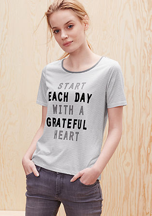 T-shirt with flock lettering from s.Oliver