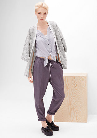 Casual sweatshirt jacket with 3/4-length sleeves from s.Oliver