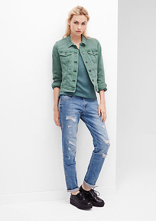 Colored Denim-Jacke