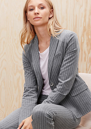 Sweatshirt blazer with pinstripes from s.Oliver