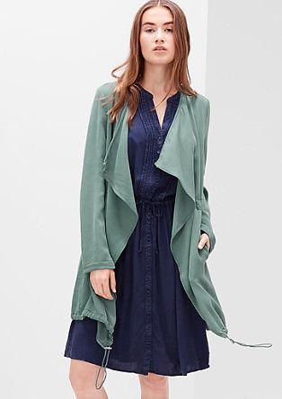 Velvety long blazer from s.Oliver