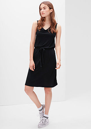 Jersey dress with an elasticated waist from s.Oliver