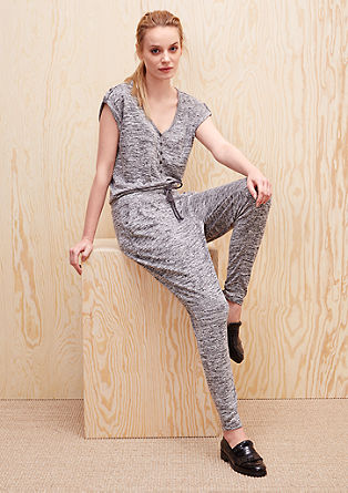 Melierter Sweat-Jumpsuit