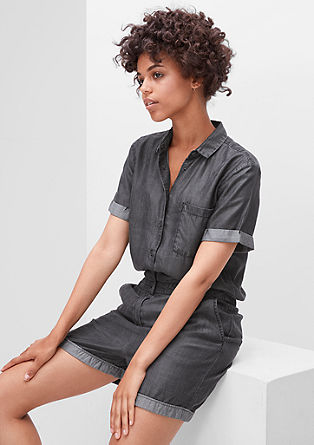 Flowing playsuit in a denim look from s.Oliver