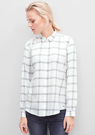 Check shirt blouse from s.Oliver