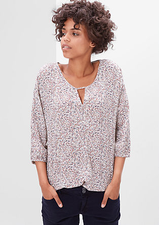 Blouse top with a cut-out at the neckline from s.Oliver
