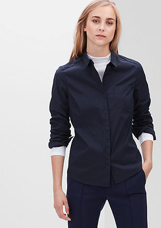 Blouse with a concealed button placket from s.Oliver