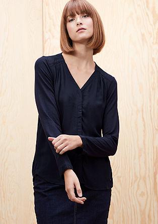 Majica dolg rokav s sprednjo stranjo v obliki bluze
