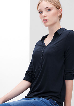 Slub yarn top in a shirt blouse style from s.Oliver