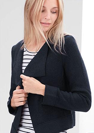 Blazer-Jacke aus Woll-Mix