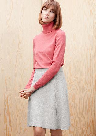 Flared wool felt skirt from s.Oliver
