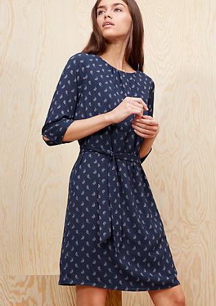 Crêpe-Kleid mit Paisley-Muster
