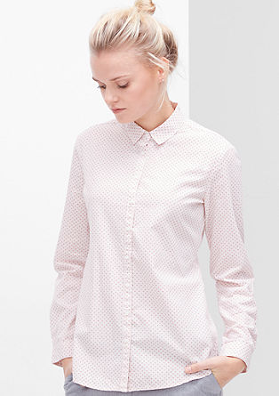 Bluse mit Minimalmuster