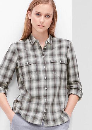 Bluse aus Baumwoll-Jacquard