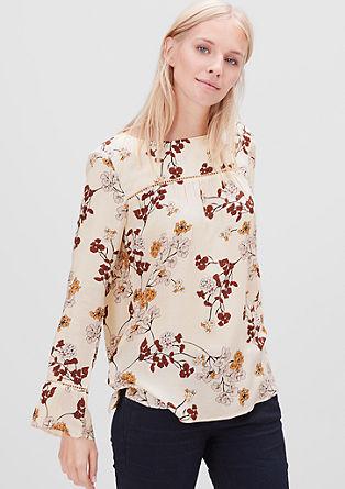 Florales Blusenshirt aus Crêpe