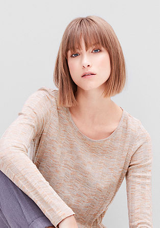 Long sleeve rib knit top from s.Oliver