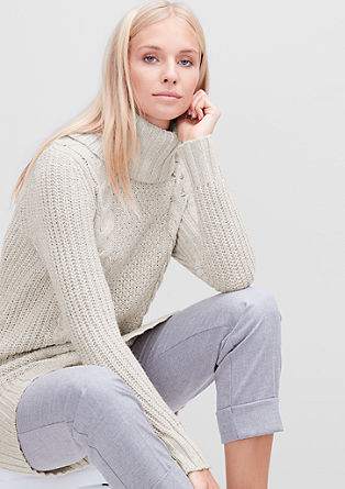 Cable knit jumper in a wool blend from s.Oliver