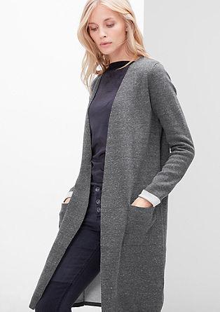 Melange knitted coat from s.Oliver