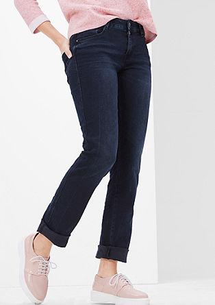 Smart Straight: Jeans in Tuscheblau